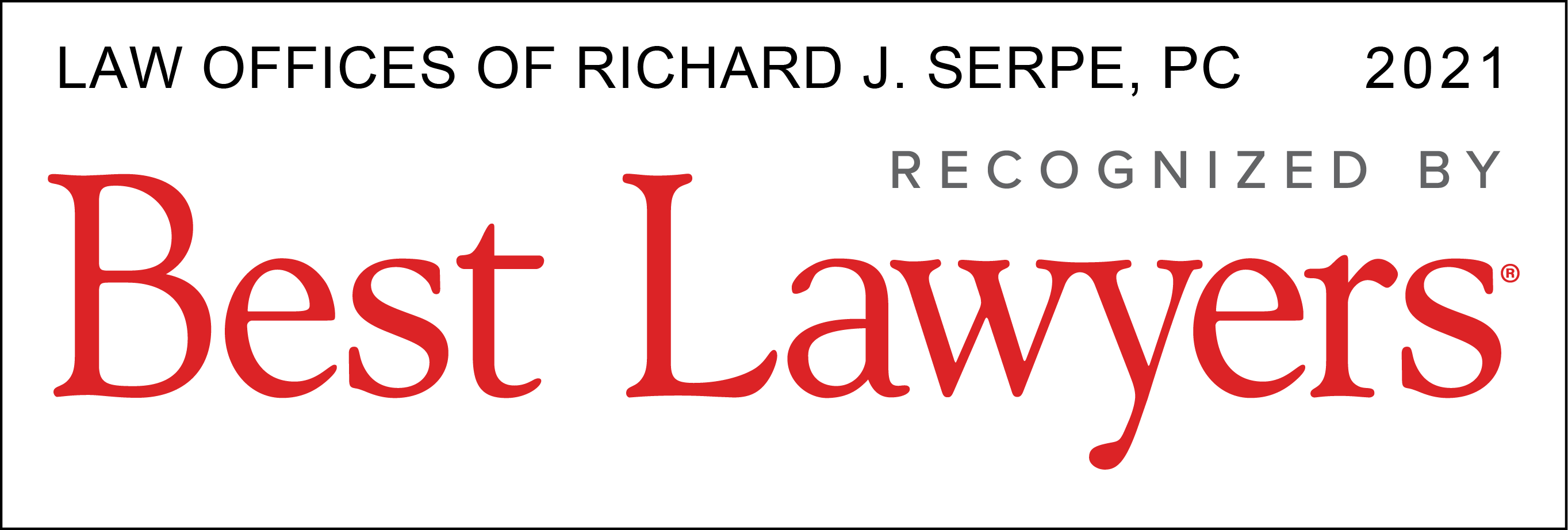 Virginia Best Lawyers 2021, Richard Serpe